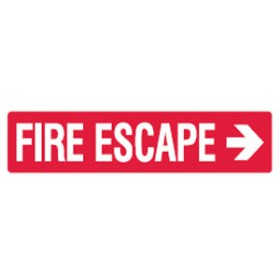 Arrow Right Picto Fire Escape Sign