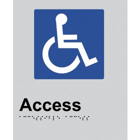 Braille Sign - Access Toilet