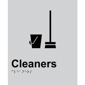 Braille Sign - Cleaners