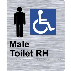 Braille Sign - Male Access Toilet RH
