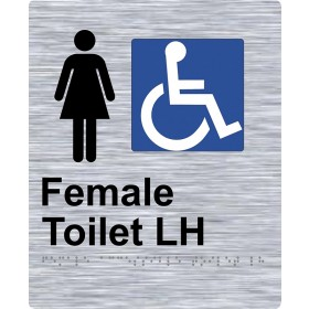 Braille Sign - Female Access Toilet LH