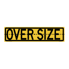 Oversize Sign Hinged 1020x250mm