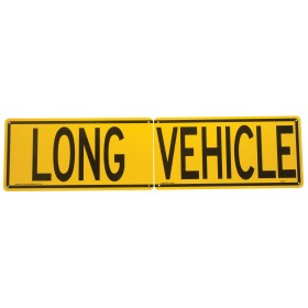 Long Vehicle/Road Train Sign Double Sided with 2 Piece Split