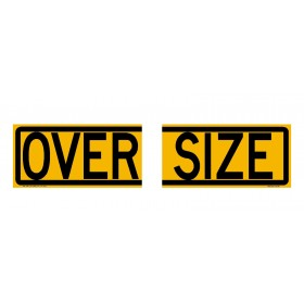 Oversize Sign Split 510x250mm