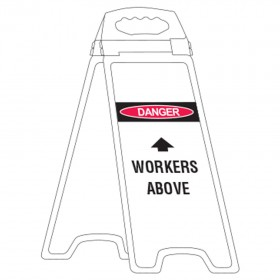 Deluxe Floor Stand Danger Workers Below