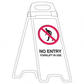 Deluxe Floor Stand No Entry Forklift In Use
