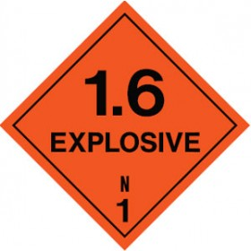 Explosive Class 1.6 Sign
