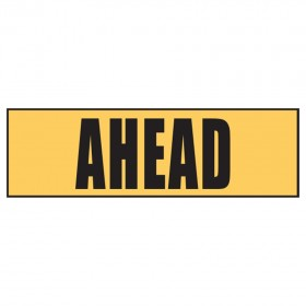 Stock Crossing Sign - Ahead
