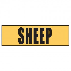 Stock Crossing Sign - Sheep
