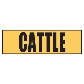 Stock Crossing Sign - Cattle