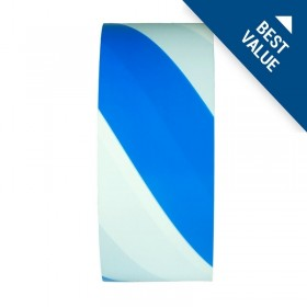 Printed Barricade Tapes - Blue/White Stripes - 75mm x 50m