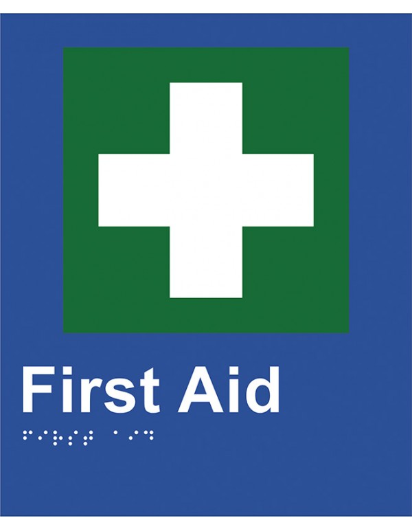 Braille Sign - First Aid