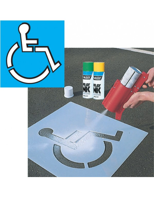 Car Park Stencil Disabled Symbol 406mm