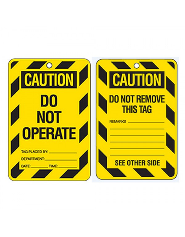 Economy Lockout Tags - Caution Do Not Operate