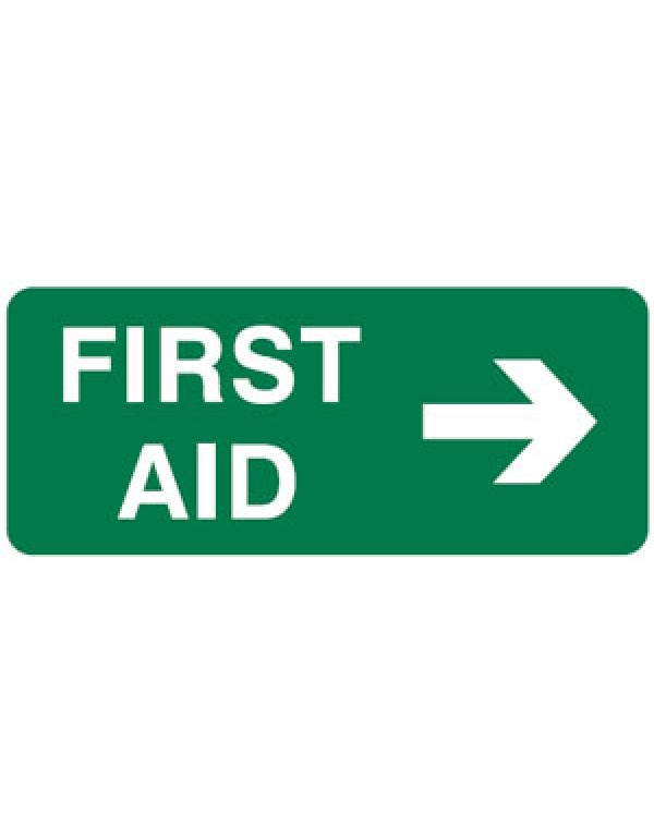 First Aid Arrow Right Sign
