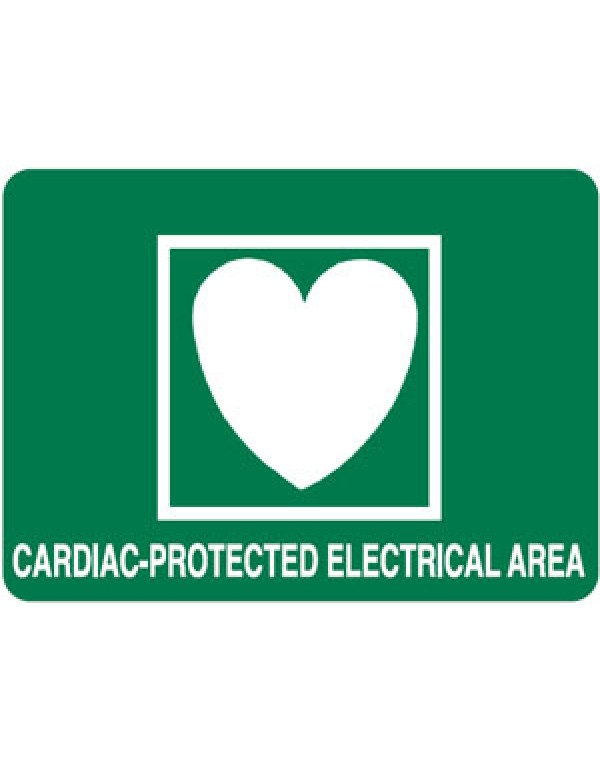 First Aid Sign Cardiac Protected Electrical Area