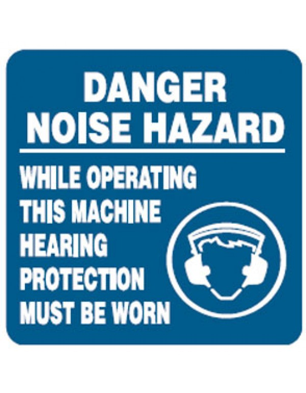 Hearing Protection Picto Danger Noise Hazard While Operating This Machine Hearing Protection Must Be Worn Sign