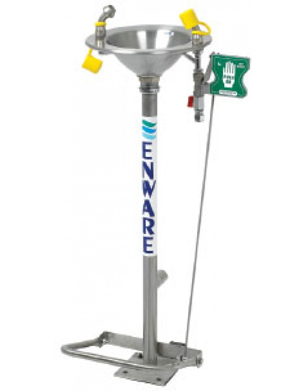 Pedestal Mount Foot/Hand Op Eye Wash