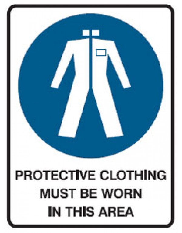 Protective Clothing Picto Protective Clothing Must Be Worn In This Area Sign