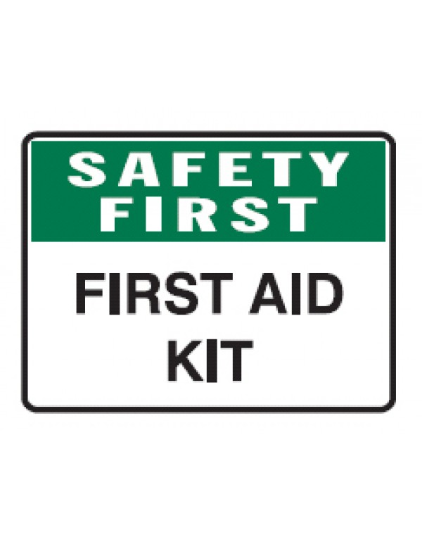 Safety First First Aid Kit Sign Metal - H300mm x W450mm