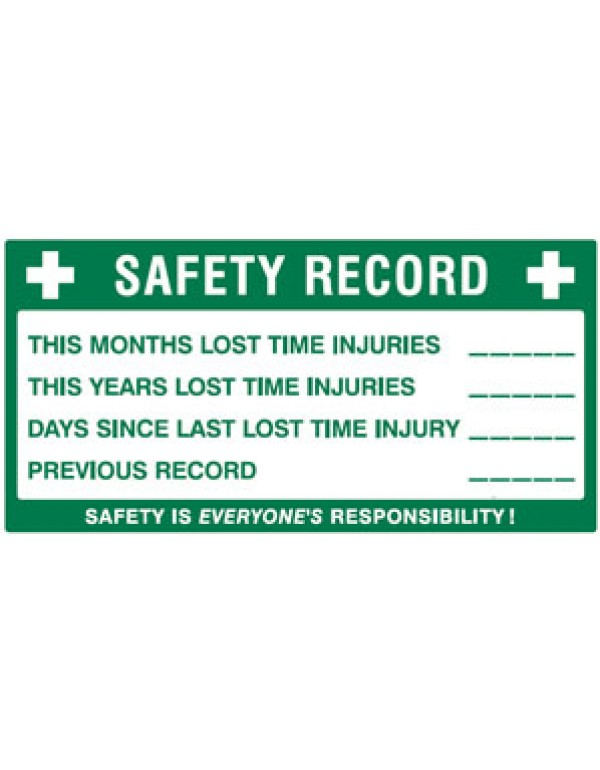 Safety Record First Aid Sign