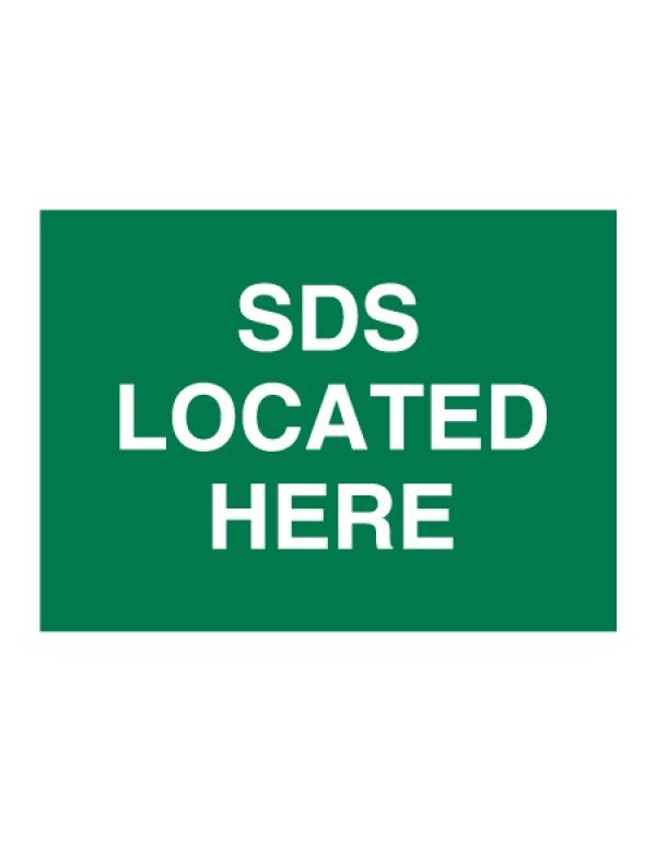 SDS Located Here First Aid Sign