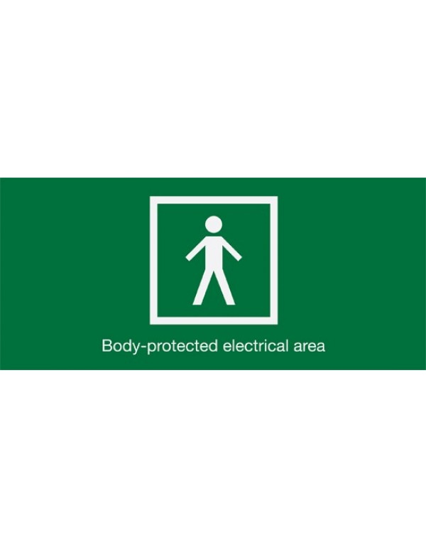 First Aid Sign Body Protected Electrical Area