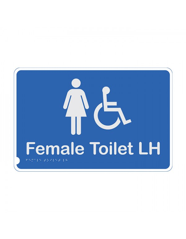 Premium Braille Sign - Female Access Toilet LH