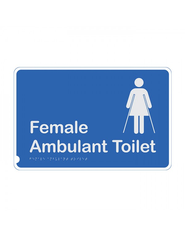 Premium Braille Sign - Female Ambulant Toilet