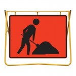 Workmen Symbol Sign and Swing Stand Kit, 1200 x 900mm