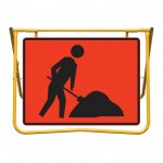 Workmen Symbol Sign and Swing Stand Kit, 900 x 600mm