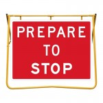 Prepare to Stop Sign and Stand Kit, 1200 x 900mm