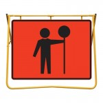 Traffic Controller Sign and Stand Kit, 1200 x 900mm