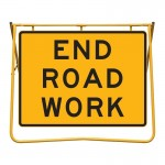 End Road Work Sign and Stand Kit, 1200 x 900mm
