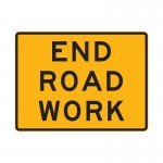 End Road Work Sign, 1200 x 900mm