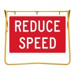 Reduce Speed Sign and Stand Kit, 1200 x 900mm