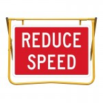 Reduce Speed Sign and Stand Kit, 900 x 600mm