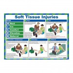 Soft Tissue Injuries First Aid Poster