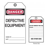Accident Prevention Tag - Danger Defective Equipment.