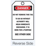 Accident Prevention Tag - Do Not Remove This Tag