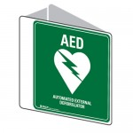 AED Dbl Sided First Aid Sign