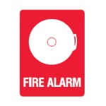 Alarm Picto Fire Alarm Sign Metal - H300mm x W225mm