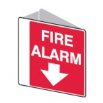 Arrow Down Picto Fire Alarm Sign