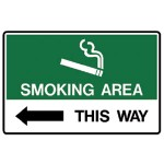 Arrow Left Picto This Way Sign Metal - H225mm x W300mm