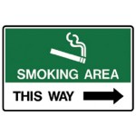 Arrow Right Picto This Way Sign Metal - H225mm x W300mm