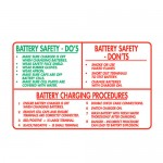 Battery Safety Do's and Don'ts Sign Metal - H450mm x W720mm