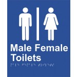 Braille Sign - Male/Female Toilet
