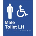 Braille Sign - Male Access Toilet LH