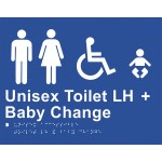 Braille Sign - Unisex Toilet LH + Baby Change
