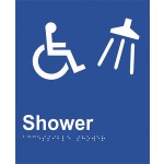 Braille Sign - Access Shower